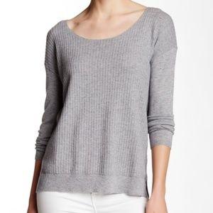 Soft Joie women  S Jelisa long sleeve sweater gray